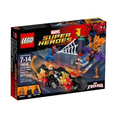 76058 - LEGO Super Heroes - Homem-Aranha: Motoqueiro Fantasma Reúne Forças