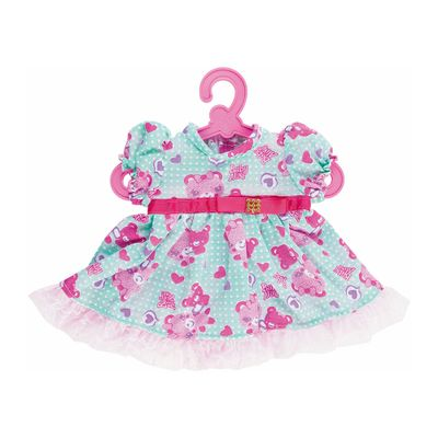 Roupinha de Boneca - Baby Alive - Vestido de Urso com Fita - Turquesa - Cotiplás