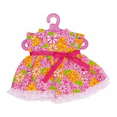 Roupinha de Boneca - Baby Alive - Vestido de Laranja - Rosa - Cotiplás