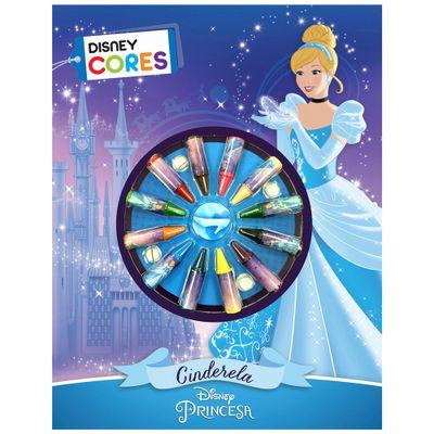 Livro de Colorir Disney - Princesas - Cinderela com Giz de Cera - DCL