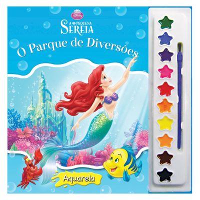 Livro - Disney Aquarela - A Pequena Sereia - DLC