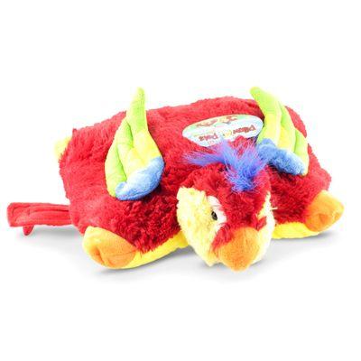 Pelúcia - Pillow Pets de Chão - Animais Coloridos - Arara - DTC
