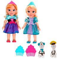 Kit-com-2-Bonecas---15-Cm---Disney-Frozen---Elsa-e-Anna---Sunny