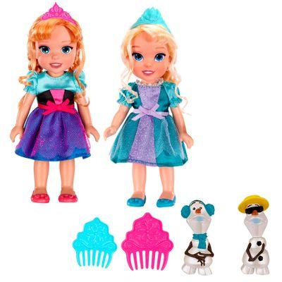 Kit Boneca 15 Cm - Disney Frozen - Elsa e Anna - Sunny
