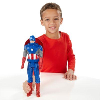 Boneco Articulado 30cm - Titan Hero Series - Marvel Avengers - Capitão América - Hasbro - Disney