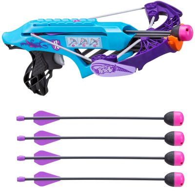 Kit Lançador Nerf Rebelle - Courage Xbow + 2 Refis - Secrets e Spies - Agent Bow - Hasbro