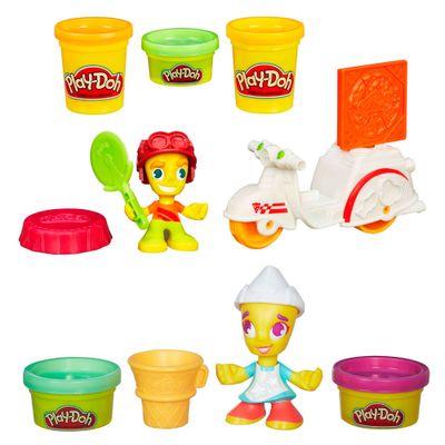 Compre-Play-Doh-Town---Entregador-de-Pizza-e-Leve-Play-Doh-Town---Pintora---Hasbro
