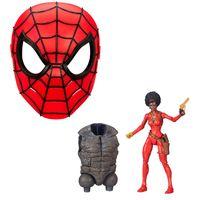 Kit-com-Figura-e-Mascara-Basica---Disney---Marvel---Misty-Knight-15-Cm-e-Mascara-Spider-Man---Hasbro