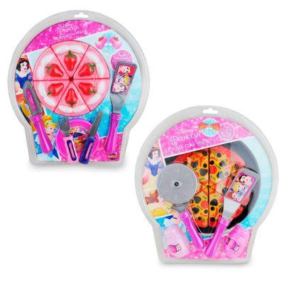 Kit Conjunto Comidinhas - Bolo e Pizza - Princesas Disney - Toyng