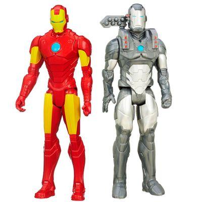 Kit-de-Bonecos---30-Cm---Disney---Marvel-Avengers---Titan-Heros-Series---Machine-War-e-Iron-Man---Hasbro