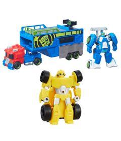 Kit-de-Bonecos-Transformaveis---Transformers---Rescue-Bots---Bumblebee-e-Trailer-de-Corrida---Hasbro