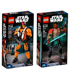 Kit-LEGO---Figuras-Articuladas---Disney---Star-Wars---75115-e-75116---Finn-e-Poe-Dameron