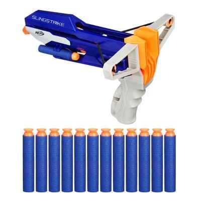 Kit-Nerf-N-Strike-Elite---Lancador-Estilingue-Slingshock-com-12-Dardos-de-Succao---Hasbro