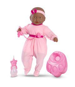 Boneca-Bebe-Mania-Xixi---Negra---Rosa-com-detalhes-Pink---Roma-Jensen