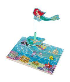 Pecas-de-Encaixe-de-Madeira-com-Ima---Disney---Princesas---Ariel---New-Toys