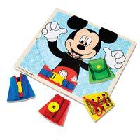 Pecas-de-Encaixe-de-Madeira---Disney---Mickey-Mouse---New-Toys
