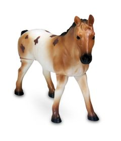 Figura-Bicho-Mundi---20-Cm---Cavalos---Malhado-Marrom-com-Bege---DTC