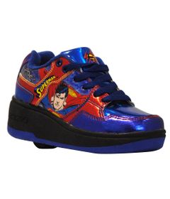 Tenis-Roller---DC-Comics---Superman---Preto-e-Azul---Royal-Kids