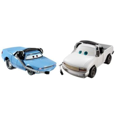 Veiculos-Hot-Wheels---Disney-Cars-2---Pack-com-2-Veiculos---Artie-e-Brian-Fee-Clamp---Mattel