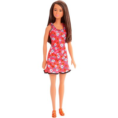 Boneca-Barbie---Fashion-And-Beauty---Morena-Vestido-Pink-Floral---Mattel