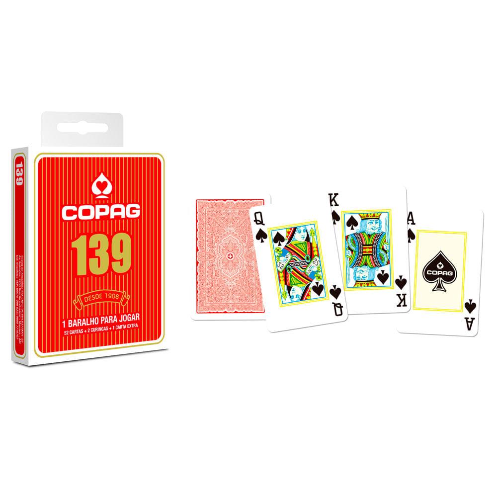Kit Jogos de Cartas - Baralho Profissional 139 Vermelho e Jogo Super Mágicas - Copag
