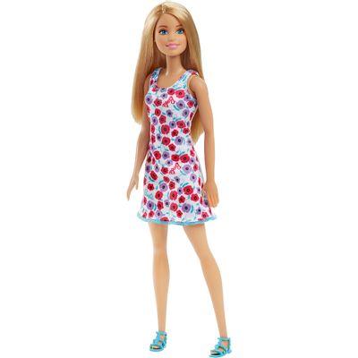 Boneca-Barbie---Fashion-And-Beauty---Loira-Vestido-Branco-com-Floral---Mattel-Frente