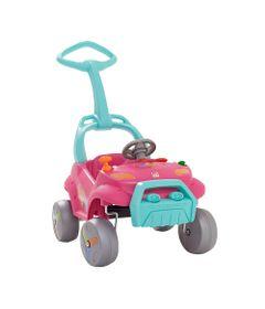 Carrinho-Smart-de-Passeio-com-Pedal-e-Andador---Rosa---Bandeirante-Frente