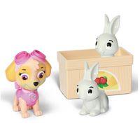 Mini-Figuras---Pack-de-Resgate-Amigo---Patrulha-Canina---Skye-e-Coelhos---Sunny