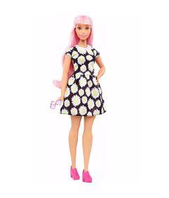 Boneca-Barbie-Fashionista---Vestido-de-Margaridas---Mattel