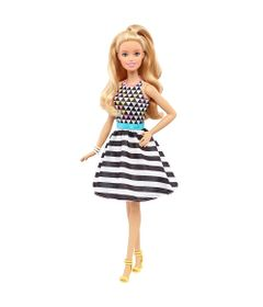 Boneca-Barbie-Fashionista---Vestido-Geometrico---Mattel
