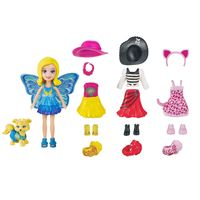 Mini-Boneca---Polly-Pocket---Festa-a-Fantasia---Polly-e-Cachorrinho---Mattel