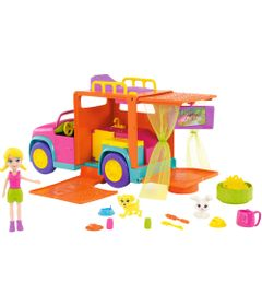 Mini-Boneca---Polly-Pocket---Polly-com-Veiculo---Carro-de-Acampamento---Mattel