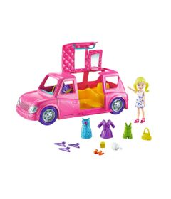 Mini-Boneca---Polly-Pocket---Polly-com-Veiculo---Limousine-Fashion---Mattel