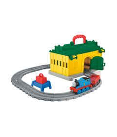 Playset---Thomas-e-Friends---Ferrovia-Portatil-com-Vagao---Galpao-Amarelo---Fisher-Price