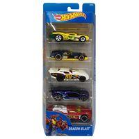 Carrinhos-Hot-Wheels---Pacote-com-5-Carros---Dragon-Blast---Mattel