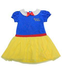 Vestido-Manga-Longa-em-Cotton---Princesas---Branca-de-Neve---Azul-Amarelo-e-Vermelho---Disney---2