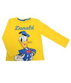 Camiseta-Manga-Longa-em-Meia-Malha---Pato-Donald---Amarelo---Disney