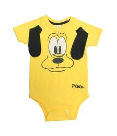 Body-Manga-Curta-em-Cotton---Pluto---Amarelo-e-Preto---Disney---G