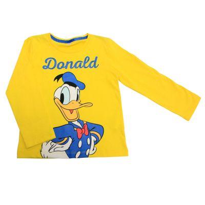 Camiseta-Manga-Longa-em-Meia-Malha---Pato-Donald---Amarelo---Disney---2