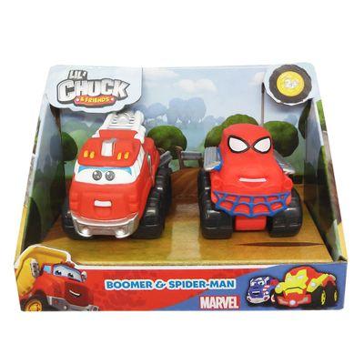 mini-veiculos-chuck-friends-pack-com-2-veiculos-classics-e-marvel-boomer-e-spider-man-tomy