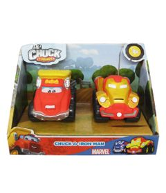 Mini-Veiculos---Chuck-Friends---Pack-com-2-Veiculos---Classics-e-Marvel---Chuck-e-Iron-Man---Tomy