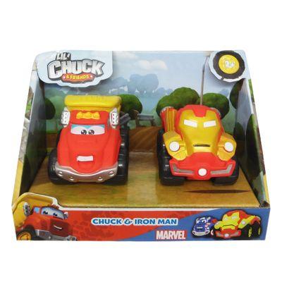 mini-veiculos-chuck-friends-pack-com-2-veiculos-classics-e-marvel-chuck-e-iron-man-tomy