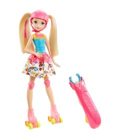 Boneca-Barbie-Articulada-30-Cm---Barbie-Video-Game-Hero---Patinadora-com-Luzes---Mattel