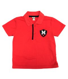 Camiseta-Polo-Manga-Curta---Mickey---Vermelho-e-Marinho---Disney---1