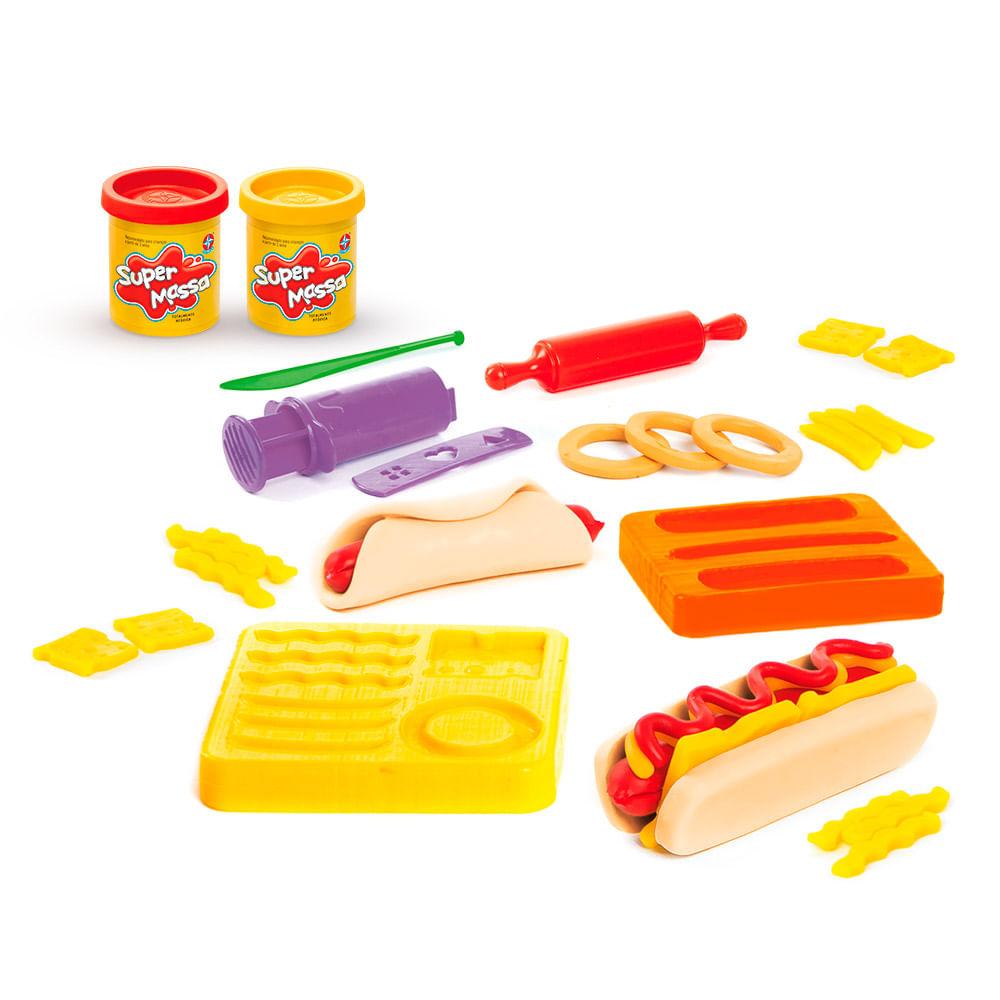 Conjunto de Massas de Modelar - Super Massa - Hot Dog - Estrela