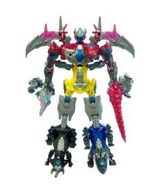 Kit-5-Figuras-de-Acao-Transformaveis---Saban-s-Power-Rangers---Megazord---63-Cm---Sunny