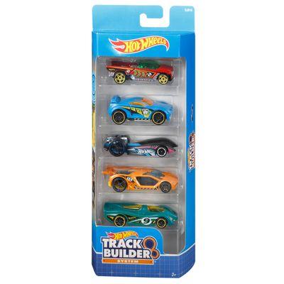 Carrinhos-Hot-Wheels---Pacote-com-5-Carrinhos---Track-Builder-System---Mattel