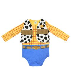 Body-Manga-Longa-em-Suedine---Toy-Story---Woody---Amarelo-e-Azul---Disney---P
