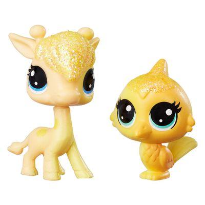 Mini-Figuras-Littlest-Pet-Shop---Dupla-Arco-Iris---Lofty-Sunglow---Saffron-Flutterdust---Hasbro