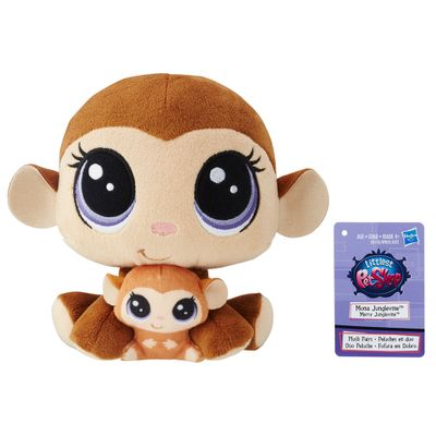 pelucia-littlest-pet-shop-mamae-e-filho-mona-junglevine-merry-junglevine-hasbro